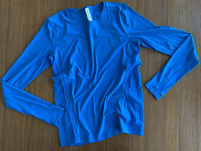 Lululemon Tech Long Sleeve Women's Top Turquoise sz 6 New Without Tag