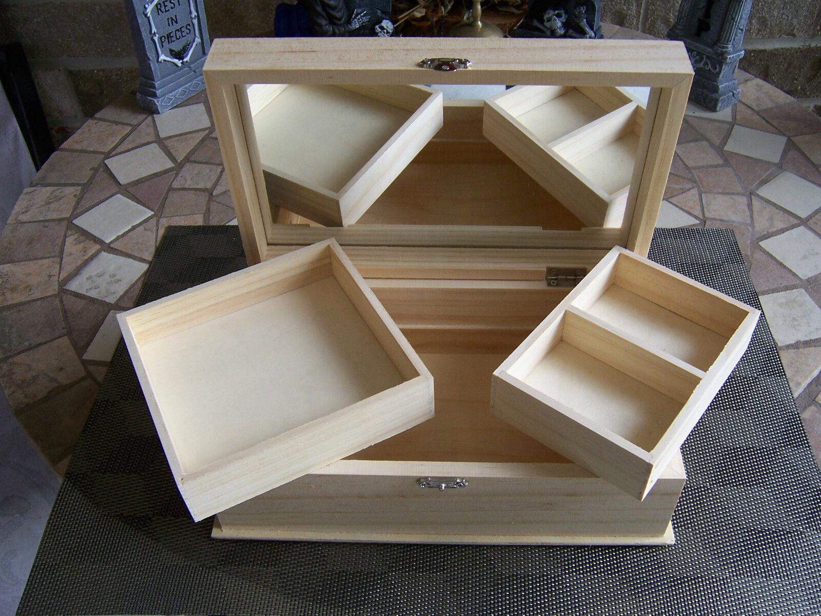 Unfinished wood craft boxes - Unfinished Wood Box 1 Unfinished Large Wood Craft Jewelry Trinket Storage Box Pet 9 X 5 14