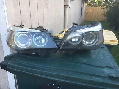 2004-2007 BMW 530i 545i M5 E60 Driver Passenger Xenon Adaptive Headlight SET