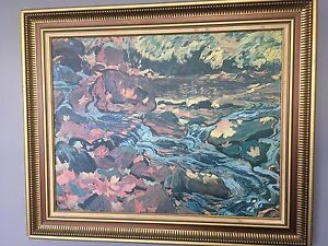 Leaves in the Brook Painting by JEH MacDonald