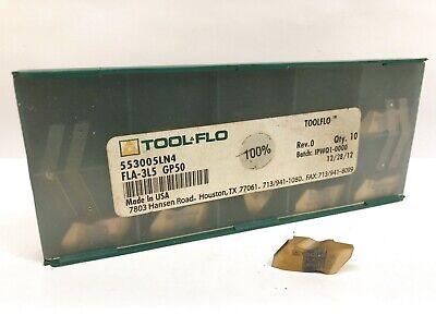 Tool-flo Fla-3l5 New Carbide Inserts Grade Gp50 10pcs