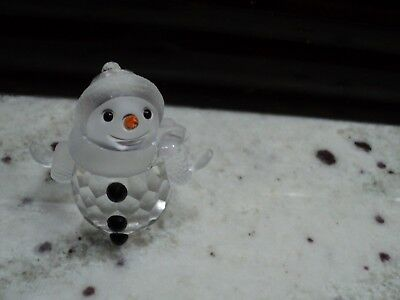 SWAROVSKI  MINIATURE SNOWMAN WITH SCARF FIGURINE MINT - Snowman With Scarf