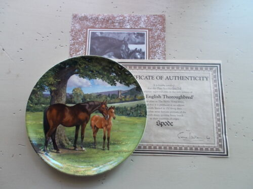 "Vintage 8"" Spode Noble Horse Collection English Thoroughbred Collector Plate"