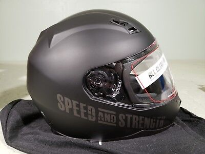 Speed & Strength Helmet SS 700 Go for broke Matte Black Large (Speed And Strength Ss700 Go For Broke Helmet)
