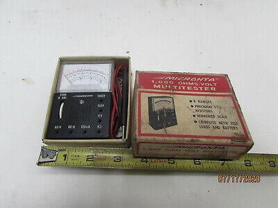 Vintage Radio Shack Tandy Micronta 22-027 Multitester Multimeter F5a