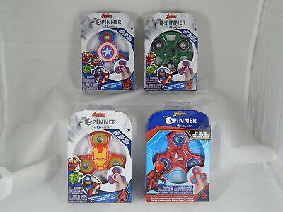 Marvel Avengers Fidget Spinners - Hulk Spiderman Ironman Capt. America! Set of 4