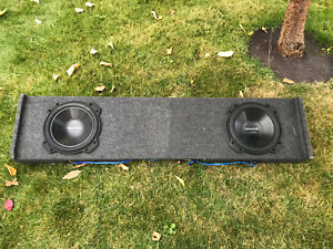 "09-14 F150 Sub Box With Two 10"" Subs & Amp"