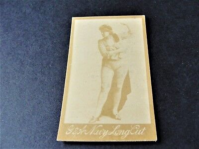 1880s G.W. Gail & Ax's Navy Tobacco Card with black & white image of lady. , used for sale  Macedonia