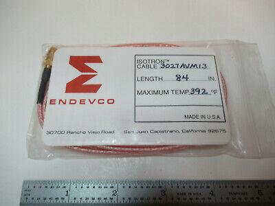 Meggitt Endevco Cable 3027avm13 14-28 For 4-pin Triaxial Accelerometer 17-b-55