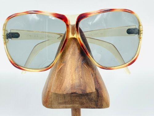 Vintage 779 AA Brown Oversized Aviator Sunglasses Eyeglasses Frames France