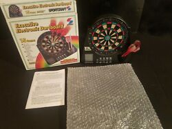 SPORTCRAFT Executive Electronic Dartboard 15 Games w/ Alarm Clock & LED Screen
