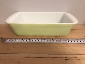 Vintage 212 Lime Green Pyrex Loaf Pan