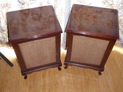 British hi-fidelity Ltd pair 70's Hi-Fi Loud speakers Georgian vintage  Speakers