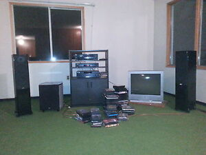 t.v. and sound system