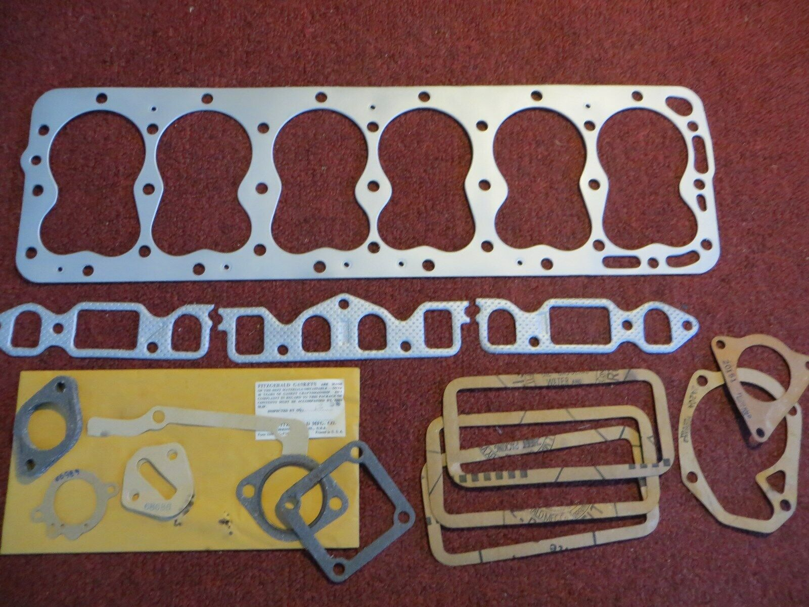 NOS Ford 6, 8MB, 1948-51 (TH-WH-THQ, 1953) Head Gasket Set