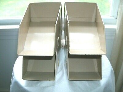 Lot Of 4 Vintage Stackable Stackbin Small Parts Dispensers Storage Bins Usa
