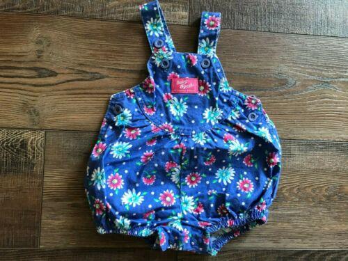 Vintage BABY B'Gosh Blue Floral Daisy Vestbak Shortalls Romper BABY Sz 3-6 MO
