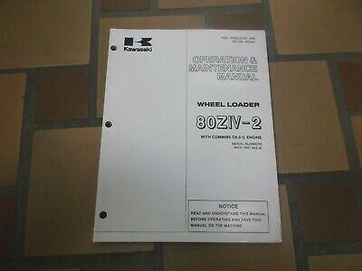 Kawasaki 80ziv-2 Wheel Loader Owner Operator User Guide Maintenance Manual