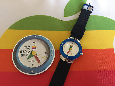 OOP NEW! VINTAGE APPLE COMPUTER INC LOGO MAC OS RARE COLLECTOR'S WATCH + BONUS