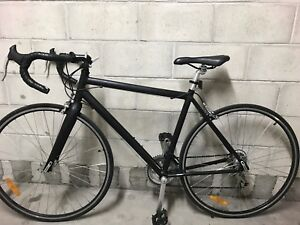 Matte black road bicycle for sale
