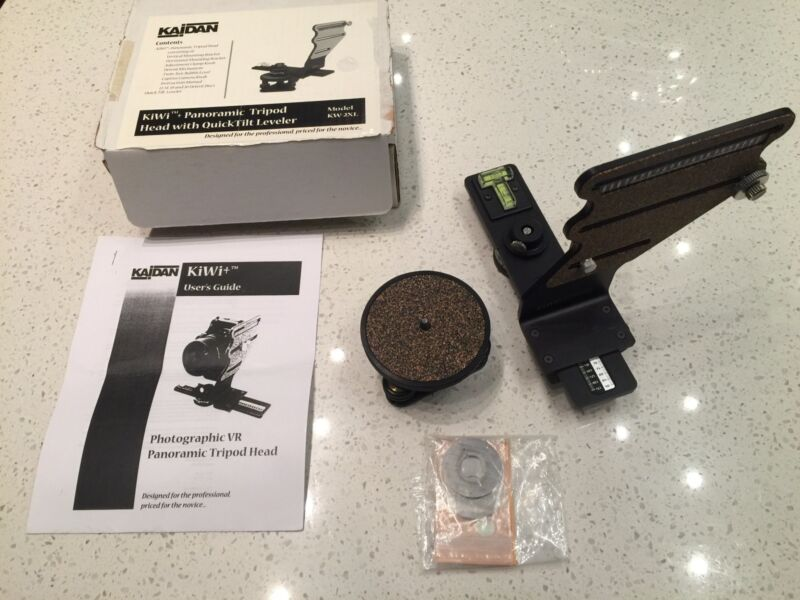 """Tripod Panoramic Head """"KIWI"""" With QuickTilt Leveling Base, USA Made, Exc."""