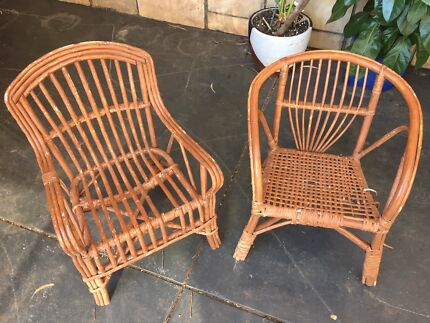Vintage cane children's chairs $10 each