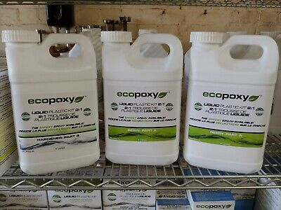 Ecopoxy Liquid Plastic 21 Ratio - 12 Liter Kit - Epoxy Resin Kit - River Tables