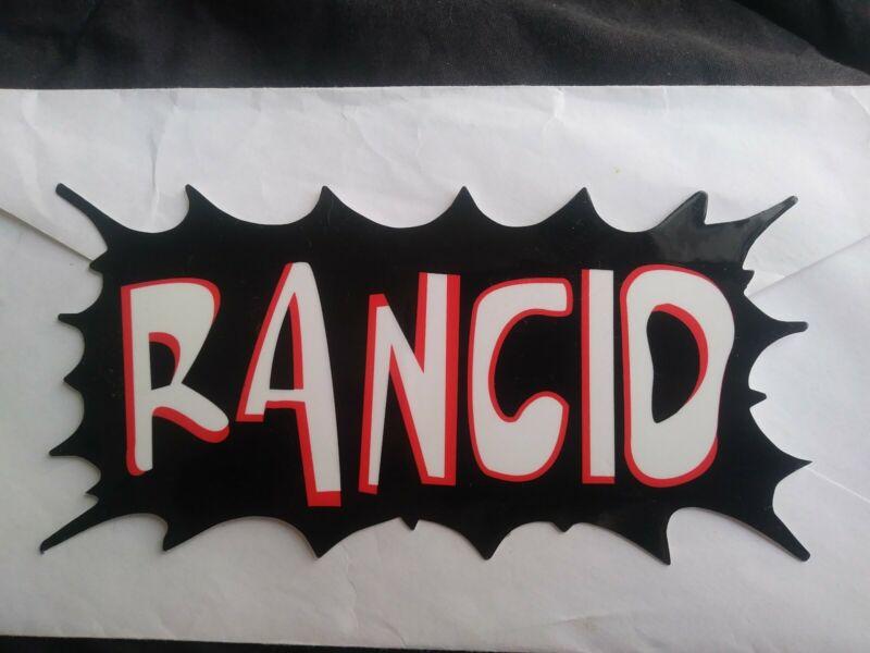 RANCID Die Cut STICKER NEW VINTAGE RARE COLLECTIBLE Bumper Sticker Vinyl