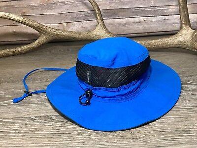 Columbia Bora Bora II Blue Unisex Fishing Outdoor Drawstring Sun Visor Hat O/S Columbia Nylon Visor
