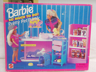 "Barbie ""So Much To Do"" 1995 Pretty Pet Parlor Set - NRFB"
