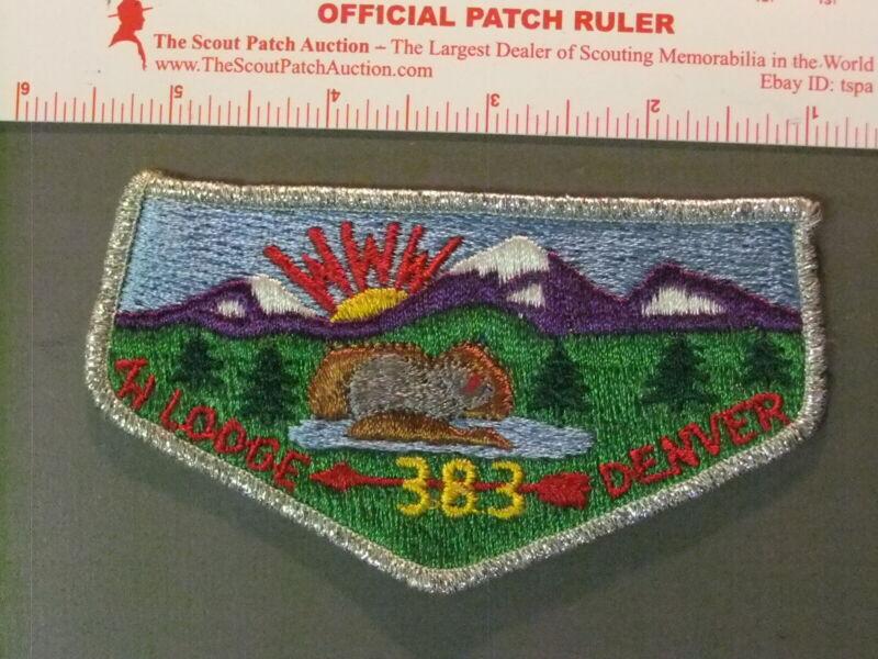 Boy Scout OA 383 Tahosa flap 6647JJ