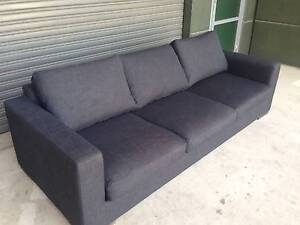 FREEDOM WEEKENDER FABRIC 3 SEAT SOFA LOUNGE - DARK GREY IN COLOUR Strathfield Strathfield Area Preview