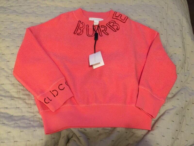 BURBERRY Girls Sweater Peach SIZE 4 YEARS NEW
