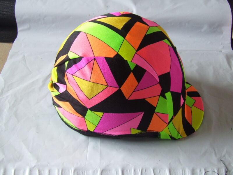 Ecotak Lycra helmet cover - Abstract shapes. Ecotak