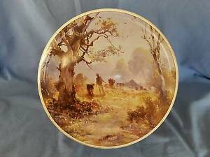 Vintage Arnotts Large Round Biscuit Tin Newtown Geelong City Preview