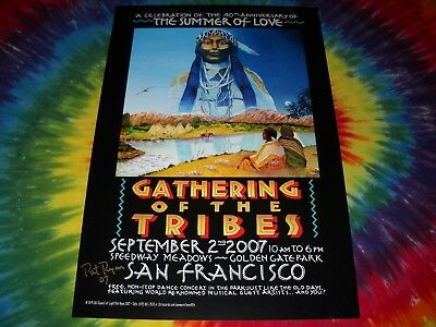 SUMMER OF LOVE GOLDEN GATE PARK 40TH ANNIV.SIGNED SAN FRANCISCO CONCERT POSTER