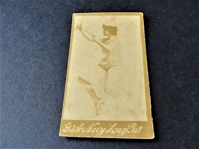 Used, Antique 1880s G.W. Gail/Ax's Navy Tobacco Card with black / white image of lady. for sale  Macedonia