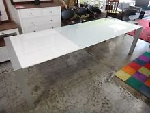 ODYSSEY GLASS EXTENDABLE DINING TABLE from NICK SCALI - CLEARANCE Richmond Yarra Area Preview