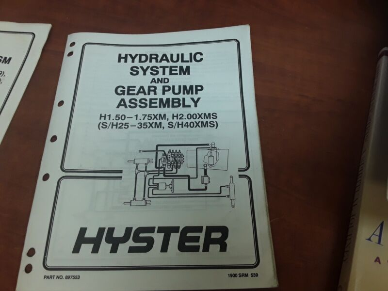 Hyster Hydraulic System And Gear Pump Assembly Part NO.897553 1900SRM 539