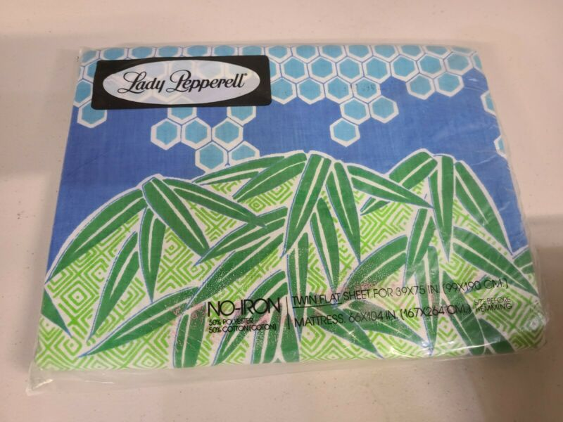 Vintage 1960s Lady Pepperell Twin Flat Sheet. Never Opened #SC