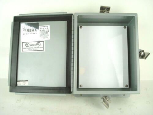 "Hoffman Style 10x8x4"" Nema 4 Hinged Door Electrical Enclosure Junction Box NEW"