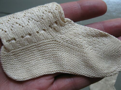 Antique Vintage Victorian Baby Socks - AMAZING DETAIL !!!