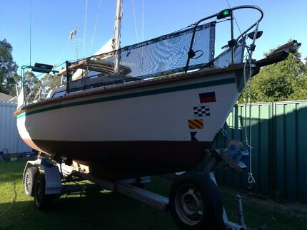 21 ft Spacesailer with trailer with 12 month rego