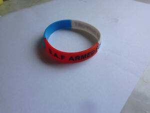 b.a.f. armed forces support. wristband. military. fashion. clothing. british.