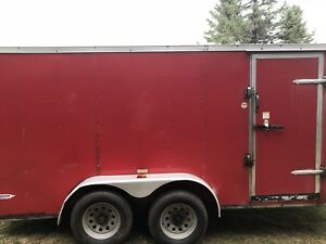 7X14 V-Nose Enclosed Trailer