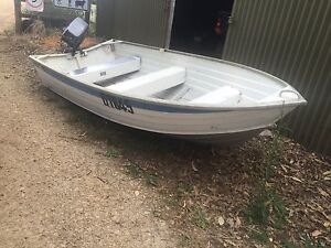 Savage swift 12ft aluminum boat tinny 8hp Yamaha outboard car topper Hastings Mornington Peninsula Preview