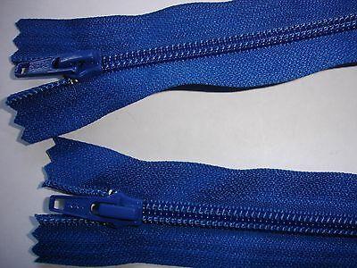 RV 376 Reißverschluß ykk blau 62cm, teilbar als 2-Wege-RV 1 Stück
