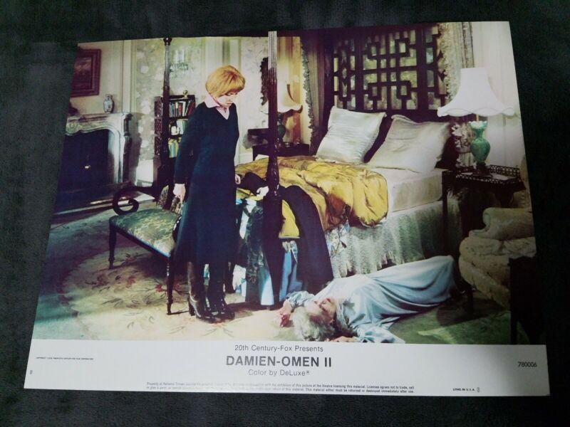 Damien Omen II lobby cards - William Holden, Lee Grant  - Set of 8