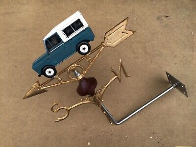 Land Rover Vintage style cast iron hand painted weather vane