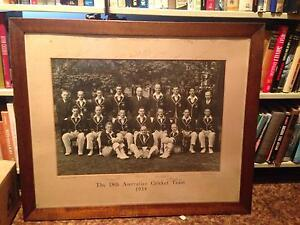 Rare Signed 1934 Australian Cricket Team Photo New Town Hobart City Preview
